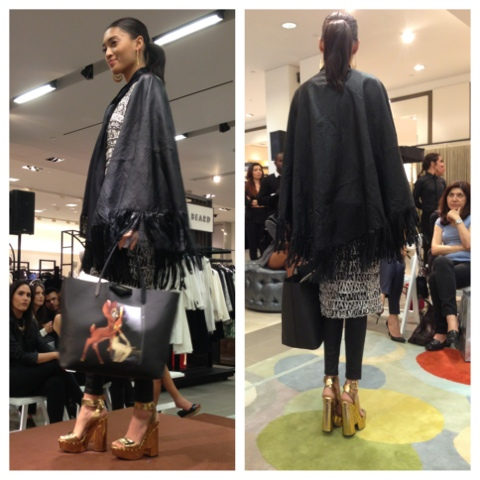How to wear a frunge poncho or fringe jacket at the Neiman Marcus Fashion Sbow