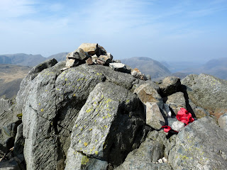 Great Gable Summit Cairn. We did not descend to the Westmorland Cairn today.