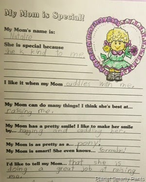 My Mom Is Special Printable