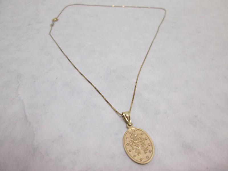 14KT Religious Iconagraphy Pendant Necklace