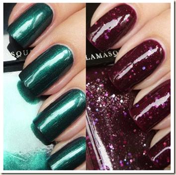 Nail Duo Viridian e Glitterati da Illamasqua