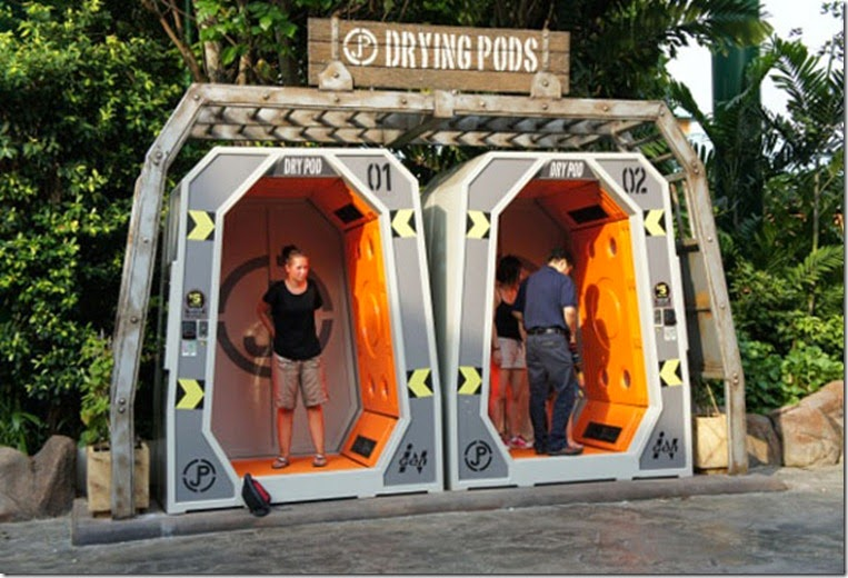 Universal Studios Singapore (USS) Resorts World Sentosa - Drying Pod