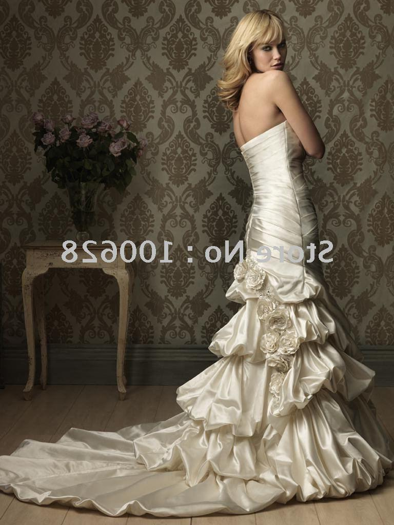 low back silk satin bridal