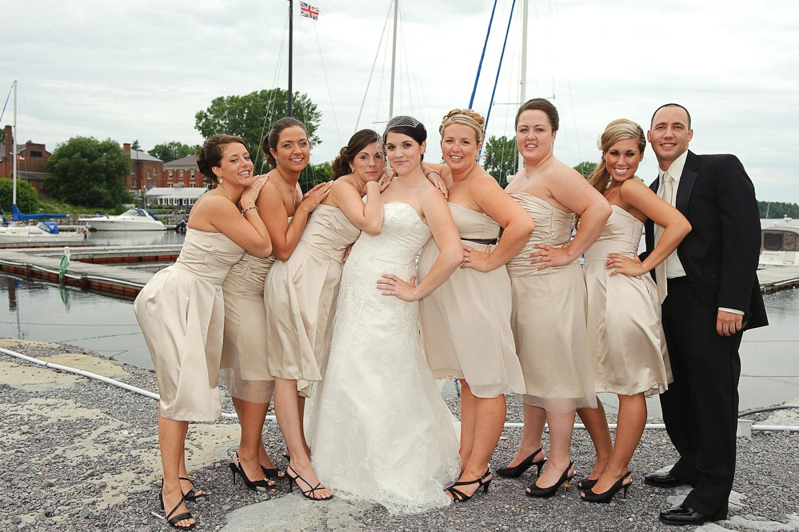champagne-bridesmaids-dresses-