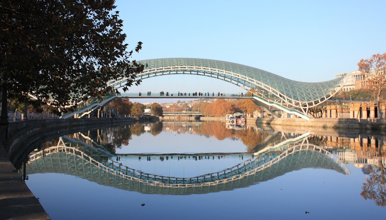 Zviad Gamsakhurdia Named Right Bank, Tbilisi, Georgia: The Bridge of the Peace by De Lucchi