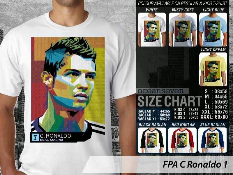 KAOS Cristiano Ronaldo 1 Desain Pop Art distro ocean seven