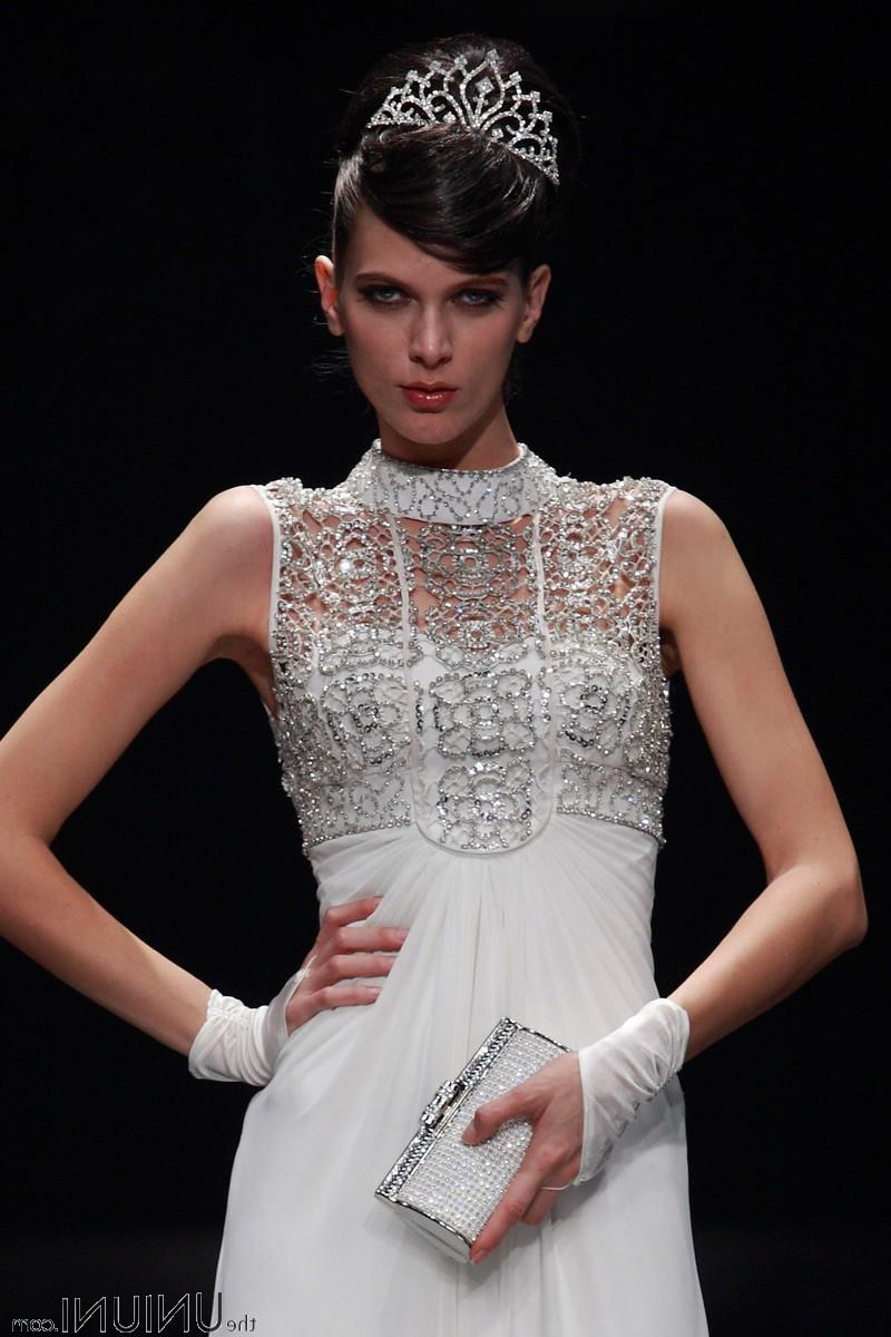 White Lace Embroideried Mesh