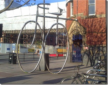 10 bike sculpture at castlefield arches