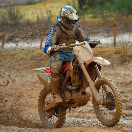 Mud Party by Marco Bertamé - Sports & Fitness Motorsports ( uphill, bike, mud, motocross, motorcycle, clumps, race, accelerating, rain, competition )