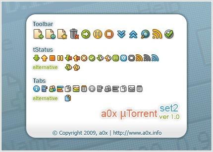 a0x utorrent set2 1.0 skin