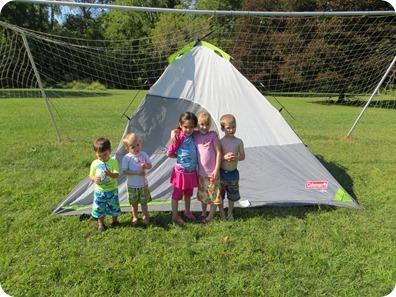 Tent Sleepover wtih Barker Family