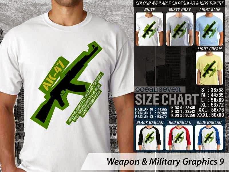 KAOS Militer AK 47 Weapon & Military Graphics 9 distro ocean seven