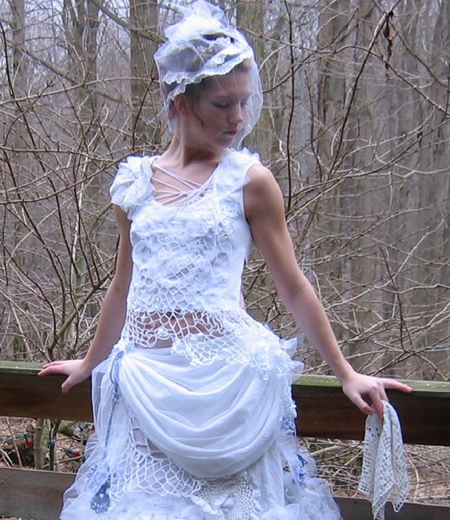 Edgy Bohemian Wedding Gown