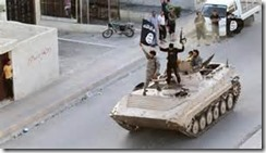 ISIS Fighters in Tank