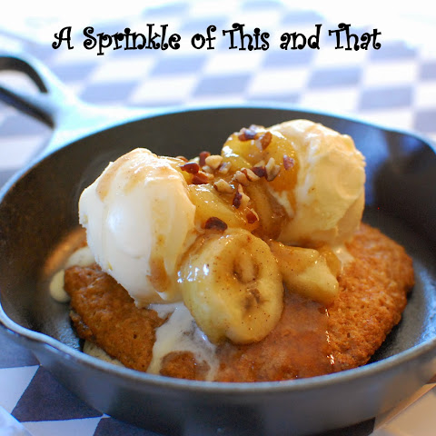 Banana Oatmeal Cookies with Bananas Foster Topping