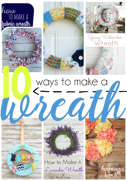 10 ways to make a wreath at GingerSnapCrafts.com #linkparty #features #wreaths