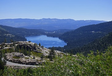 Views of Old Highway U.S. 40 Donner Summit area