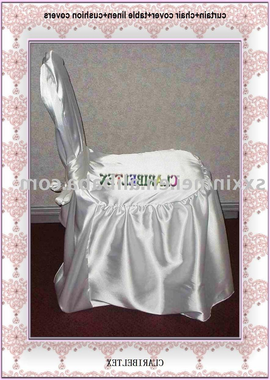 Wedding chair cover in satin material  white Banquet chair cover cheapest