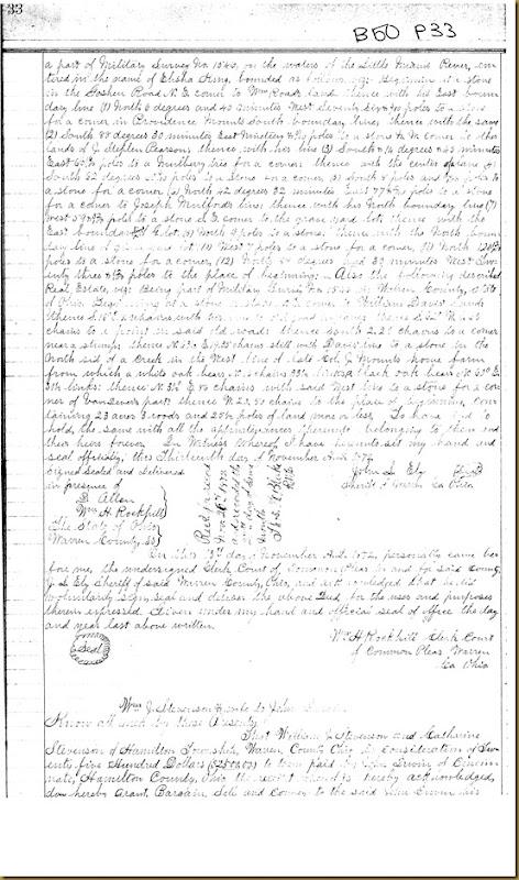 William J. Stevenson, Catharine Steveson,Warren Co,OHJohn Irwin 18721