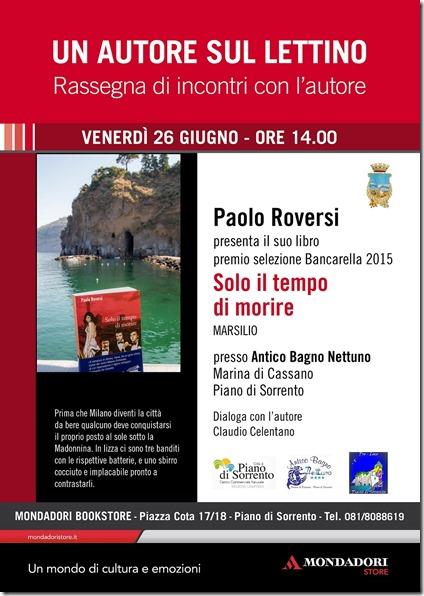 Locandina - Incontro con Paolo Roversi - Marina di Cassano