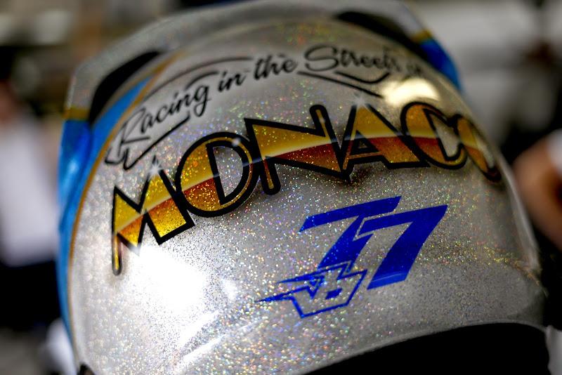 шлем Вальтери Боттаса специально для Гран-при Монако 2014