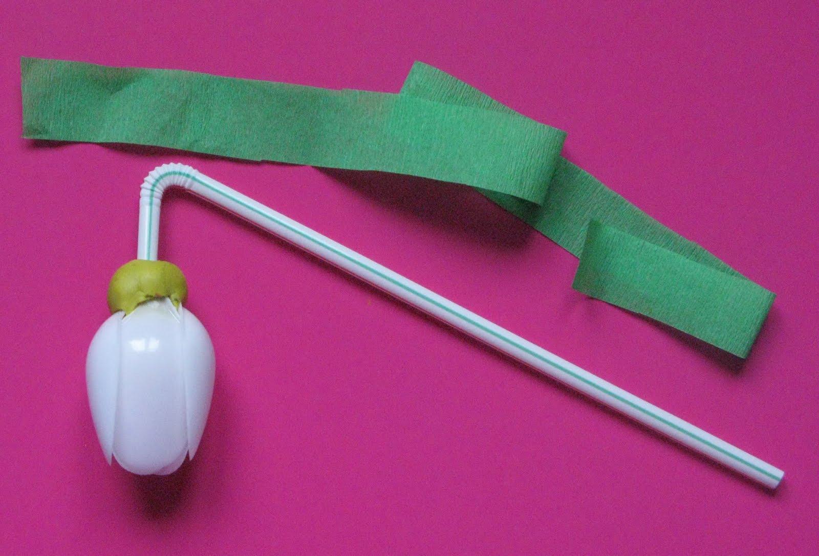 Поделки из пластиковых ложек тюльпаны