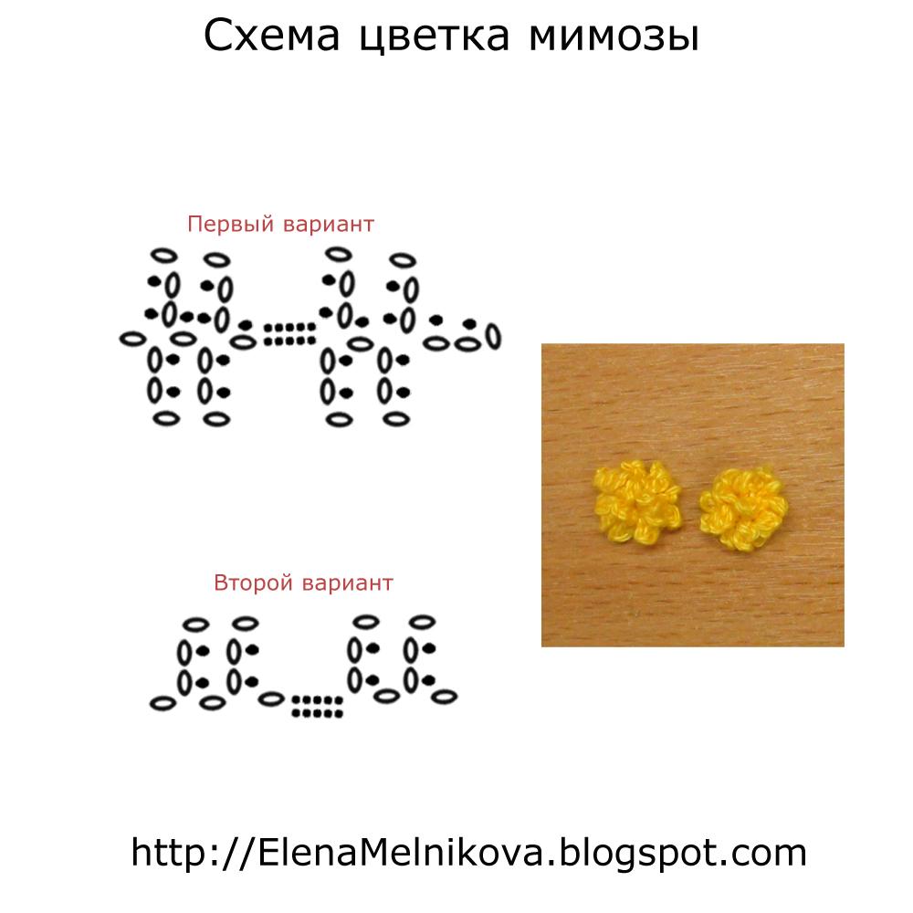 Вязание мимоза