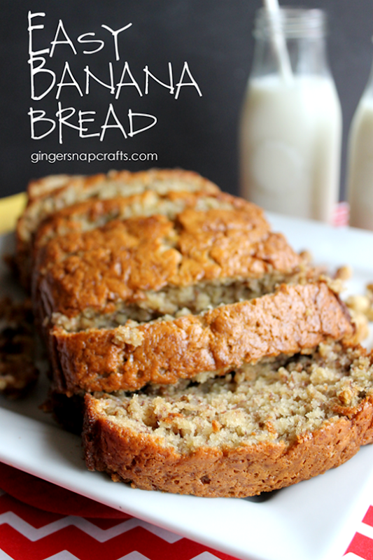 Easy Banana Bread at GingerSnapCrafts.com #TasteTheMiracle #CollectiveBias #ad_thumb