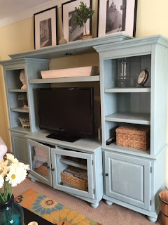Annie Sloan Chalk Painted Entertainment Center- The Style Sisters