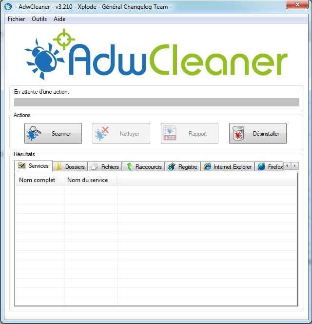 adw cleaner tool windows