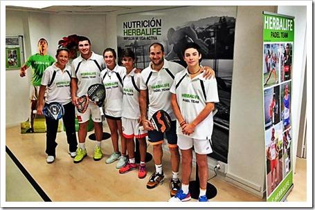 Jugadores Herbalife Seba Nerone, Agustín Gómez Silingo, Paty Llaguno, Marta Ortega, Curro Soriano y Mario González.