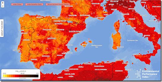 Mapa Poluição do Ar