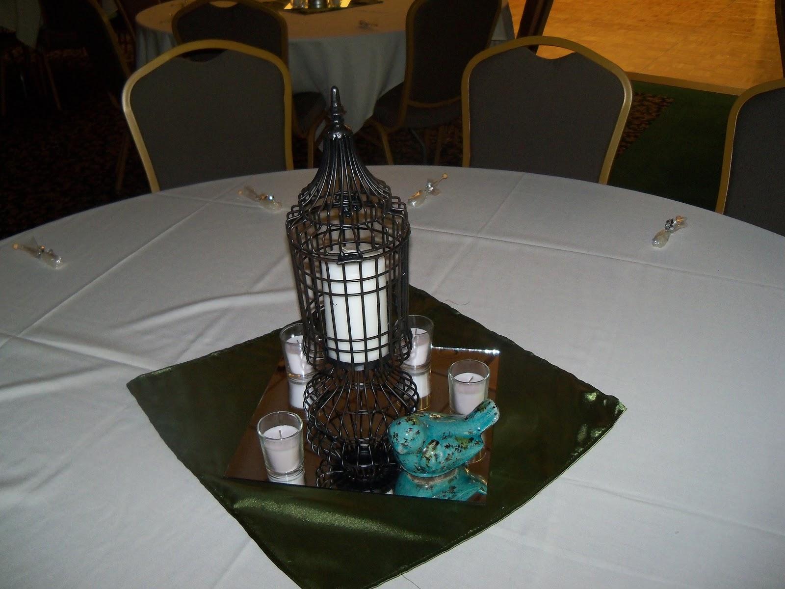 homemade wedding table