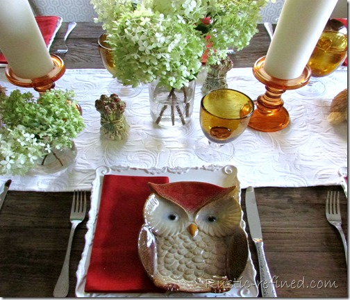 Late summer tablescape to transition you into fall