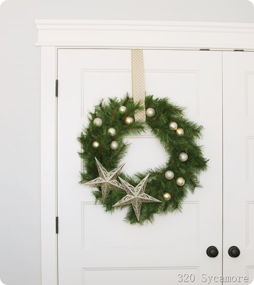 wreath from dollar store supplies
