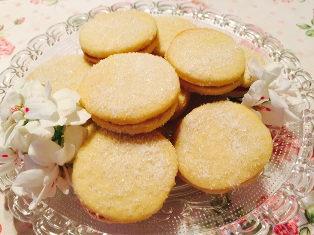Biscuits for Gentlefolk - Finnish raspberry jam filled sandwich biscuits