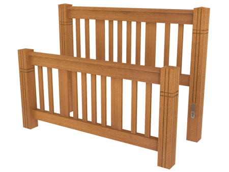 Phoenix Bed Frame in Como Maple