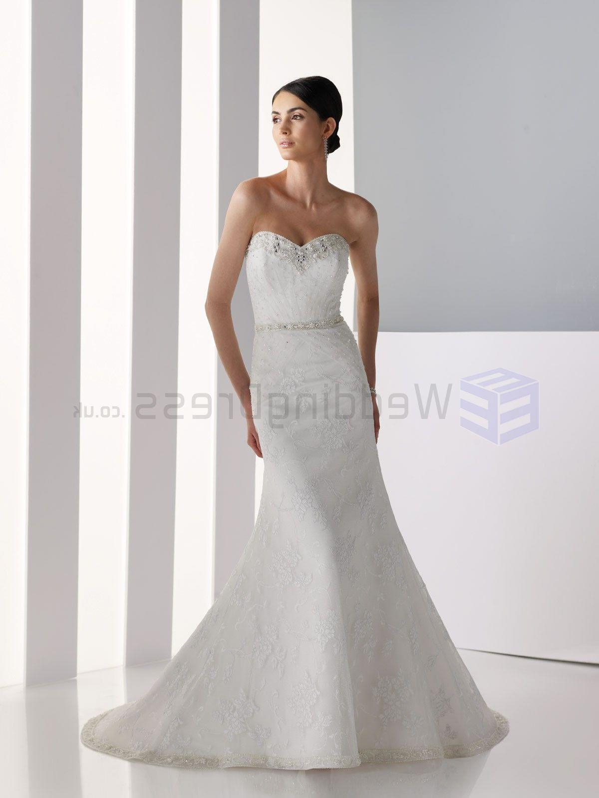 Strapless Sweetheart Lace Wedding Dresses