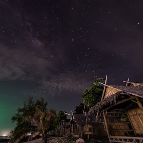 milky way by P Hin Cheah - Landscapes Starscapes ( koh lipe, hut, thailand, nice, milky way )