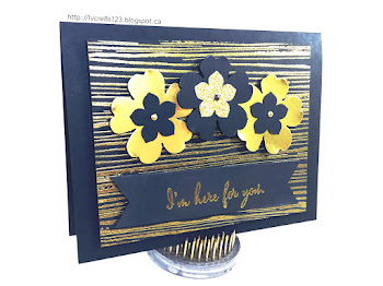 Linda Vich Creates: Bittersweet Card Class. Rich gold embossing and punched flowers from Gold Foil and Gold Glimmer papers produce a stunning sympathy card.
