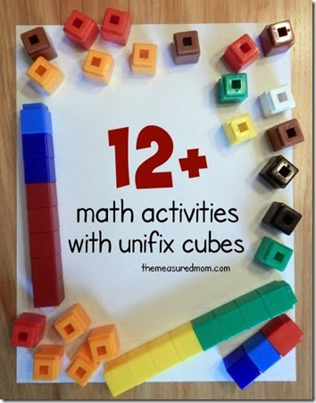Unifex Cubes Math Activities - these are such a fun math manipulative to use to teach kids counting, addition, subtraction, and more!