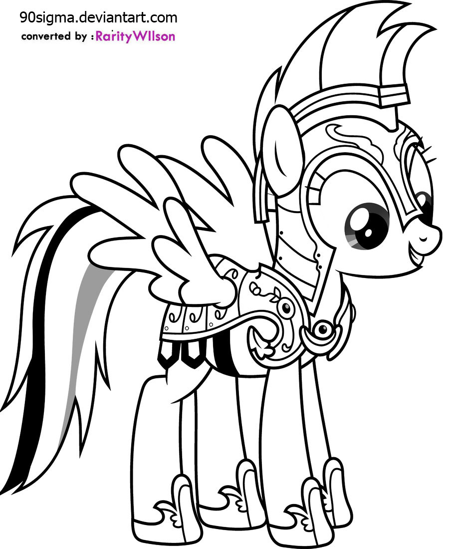 rainbow dash printable coloring pages - My Little Pony Coloring Pages Rainbow Dash FunTown