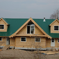 New EcoLog home, nearly finished