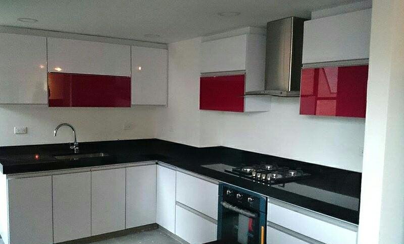 Cocinas rojo y blanco cocinas