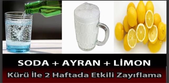 Soda Ayran Limon Kürü ile 2Haftada Etkili Zayıflama