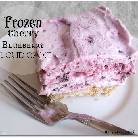 Frozen Cherry Blueberry Cloud Cake