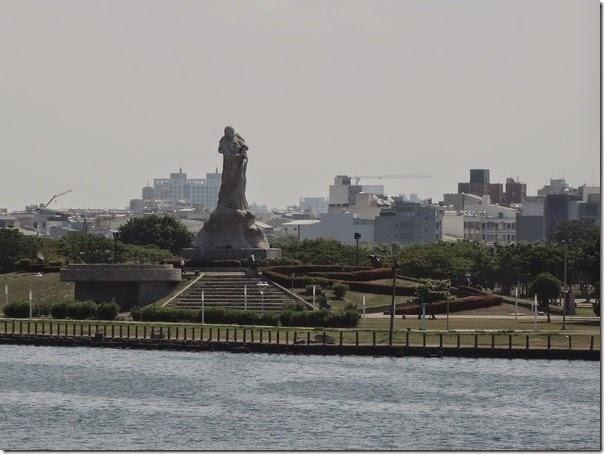 碧海碼頭的遠眺林默娘公園