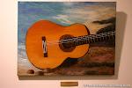 'Guitarra varada' de Esther Hinojosa. Óleo sobre lienzo