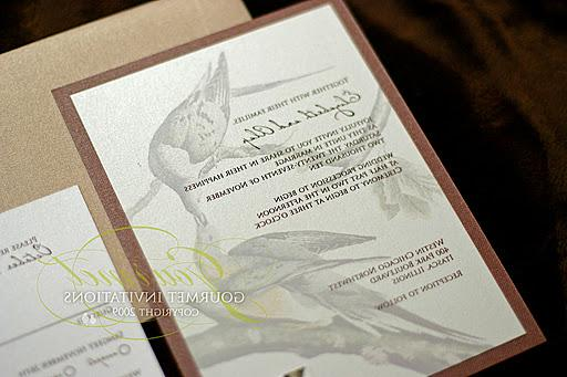 They wanted their wedding invitations based on a painting of the extinct