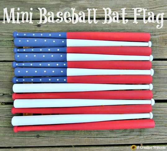 Mini Baseball Bat Flag